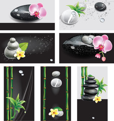Set of cards for SPA salon