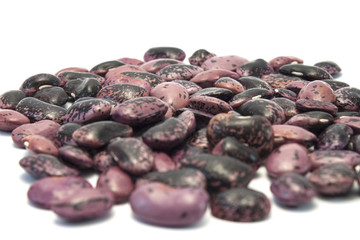 Colures beans on whit