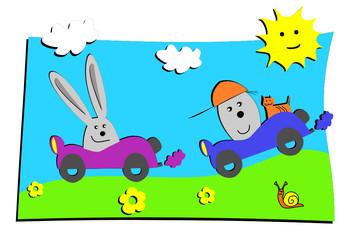 dessin d'enfant voiture