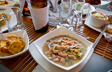 Canchalagua ceviche, typical dish from the Galapagos islands