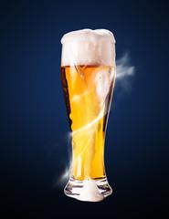 lager beer in goblet
