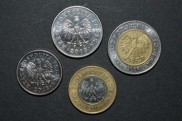zloty coin polish money pln back side