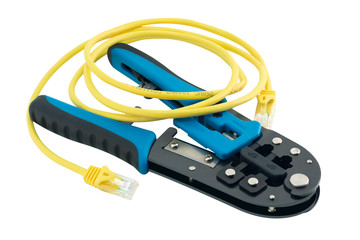 Isolated universal crimper with patch cord