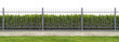 canvas print picture - Ideal village fence panorama
