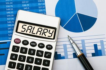 salary displayed on calculator