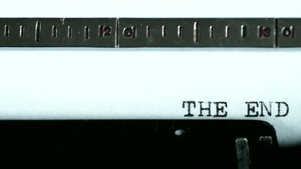 Typewriter. Typing text: the end !!!