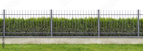 Fotobehang Wand Ideal village fence panorama