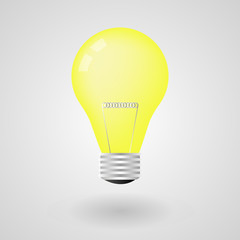 Light bulb electricity energy isolated