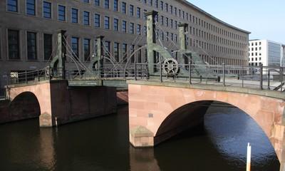 Partie an der Jungfernbrücke in Berlin