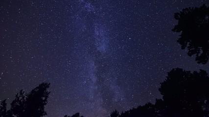 4k time lapse night sky