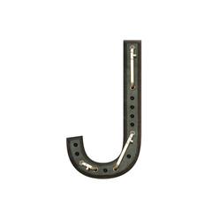 Alphabet technically, Letter J