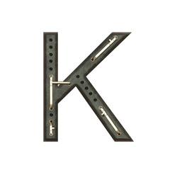 Alphabet technically, Letter K