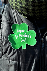 Happy St Patrick's Day greeting sign