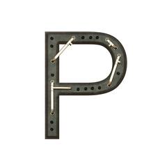 Alphabet technically, Letter P