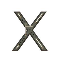 Alphabet technically, Letter X