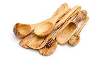 Küchenutensilien aus Olivenholz