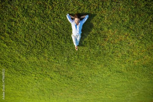 Leinwanddruck Bild enjoying life, success concept