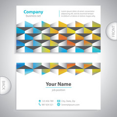 universal business card - abstract wall