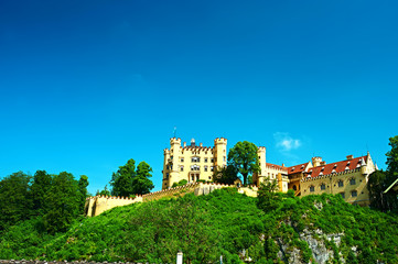The castle of Hohenschwangau in Germany