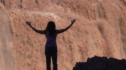 Yoga Praise at Grand Falls Arizona