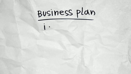 Business plan on paper