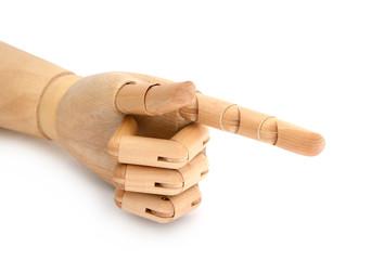 Gliederhand Zeigefinger