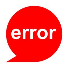 Icono texto error