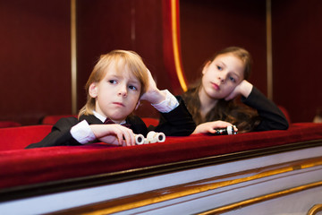 kids watching theater play