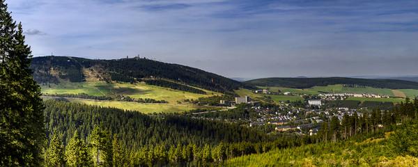 Blick auf Kurort Oberwiesenthal