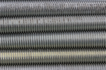 long steel screws thread background 2