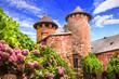 Leinwandbild Motiv Collonges-la-Rouge - beautiful red village in France (Corezze)