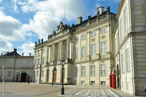 Leinwanddruck Bild Palacio Real, Amelienborg Copenhague