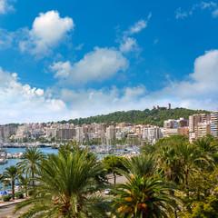 Palma de Majorca skyline with Bellver castle