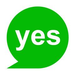 Icono texto yes