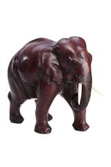 clay figurine Thai elephant on a white background