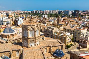 Valencia aerial skyline