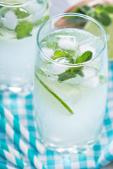 Mojito in tall glasses
