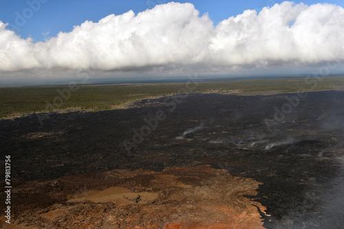 Aerial view of Kilauea volcano in Big island, Hawaii-8 - 79813756