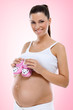 Smiling pregnant woman