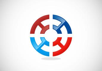 target circle game vector logo