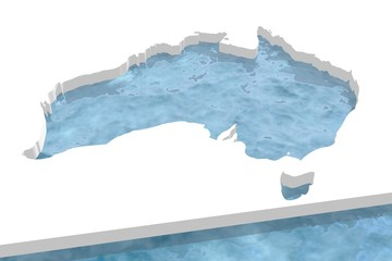 unusual water australia map icon in ice plane