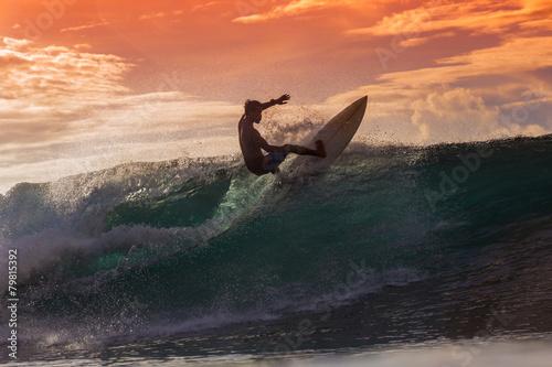 Surfer on Amazing Wave - 79815392