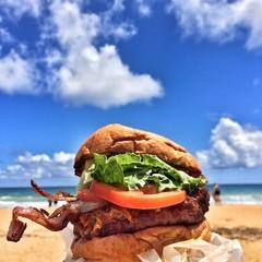 Burger in the air Hawaii