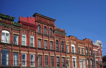 well preserved Victorian apartment building