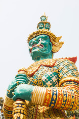 Green Giant in the Temple of the Emerald Buddha, Thailand