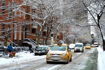 Manhattan in the winter, New York City, USA