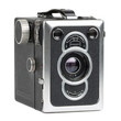 vintage camera on white