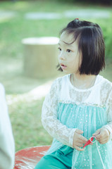 Portrait of Asian girl.
