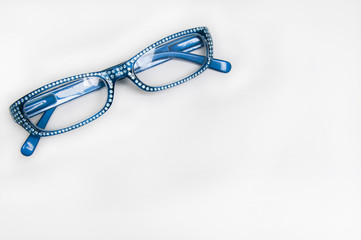 Blue Reading Glasses, sparkle