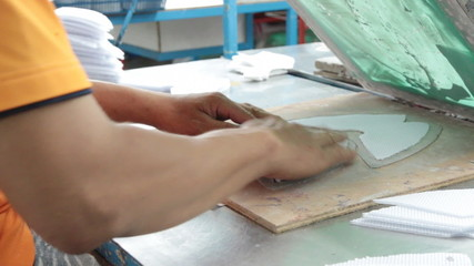 silk screen printing to footwear component part